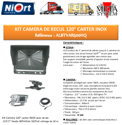 Kit camera de recul pl niortfreres